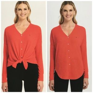 NWT Tommy Hilfiger Knot Front Light Weigh Soft Top